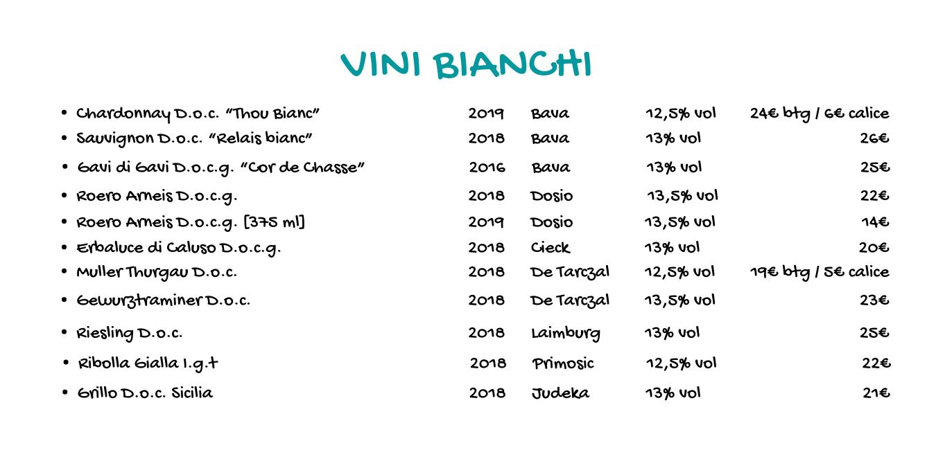 carta dei vini de gustibus chieri